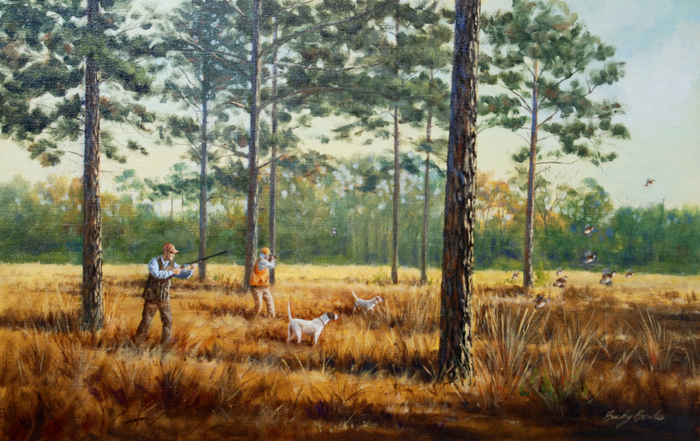 Quail hunting paintings - photo#2