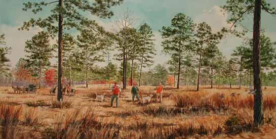 Quail hunting paintings - photo#21