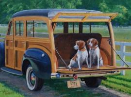 Brittanys in the Woodie
